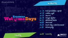 ESN Perugia Welcome Week calendar